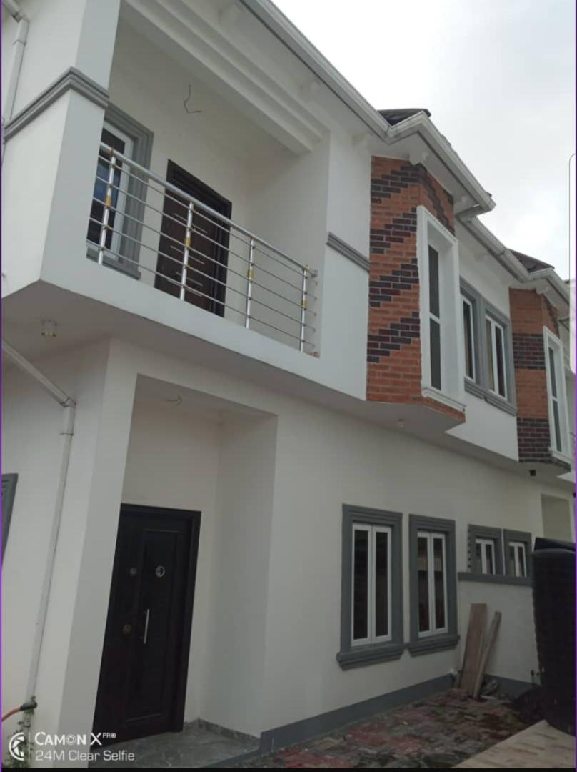 BRAND NEW 4 BEDROOM SEMI DETACHED DUPLEX WITH A ROOM BQ FOR SALE AT CHEVRON DRIVE ,LEKKI.