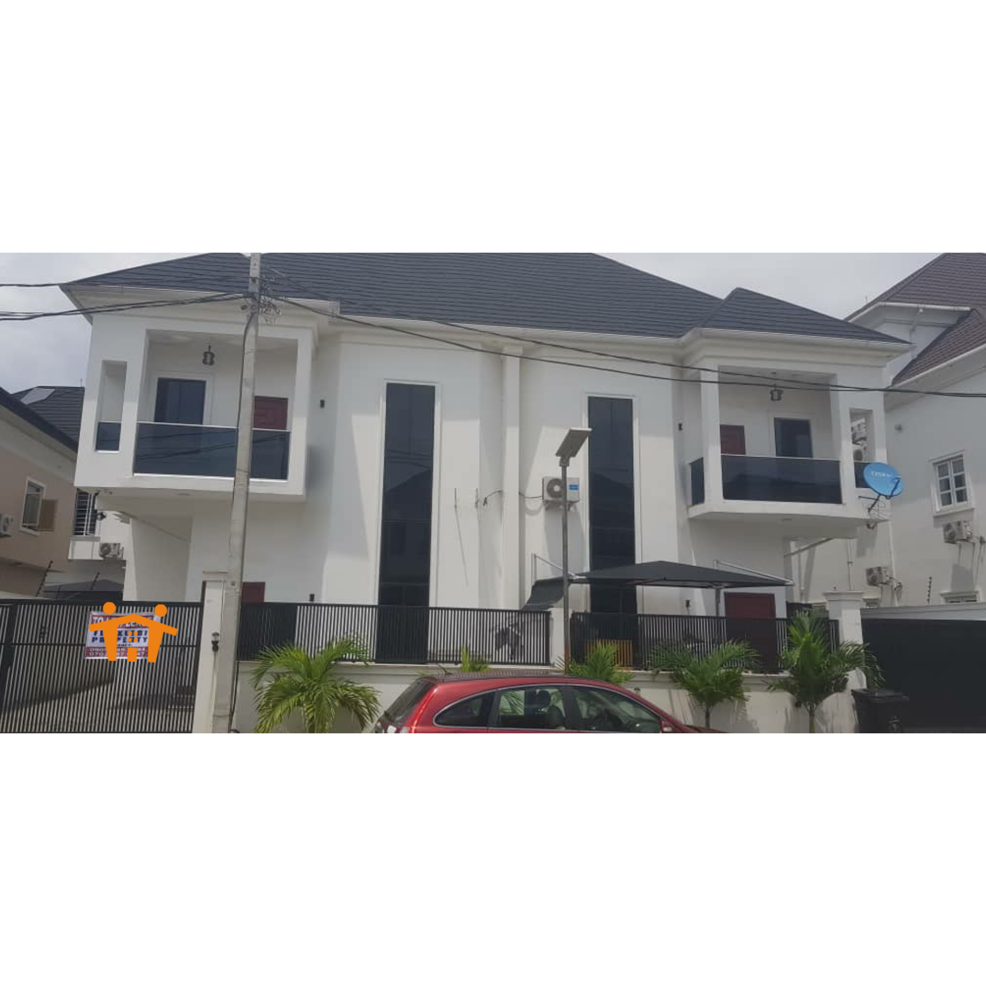 EXECUTIVE 4 BEDROOM SEMI DETACHED DUPLEX WITH FITTED KITCHEN AT OSAPA LONDON, LEKKI.
