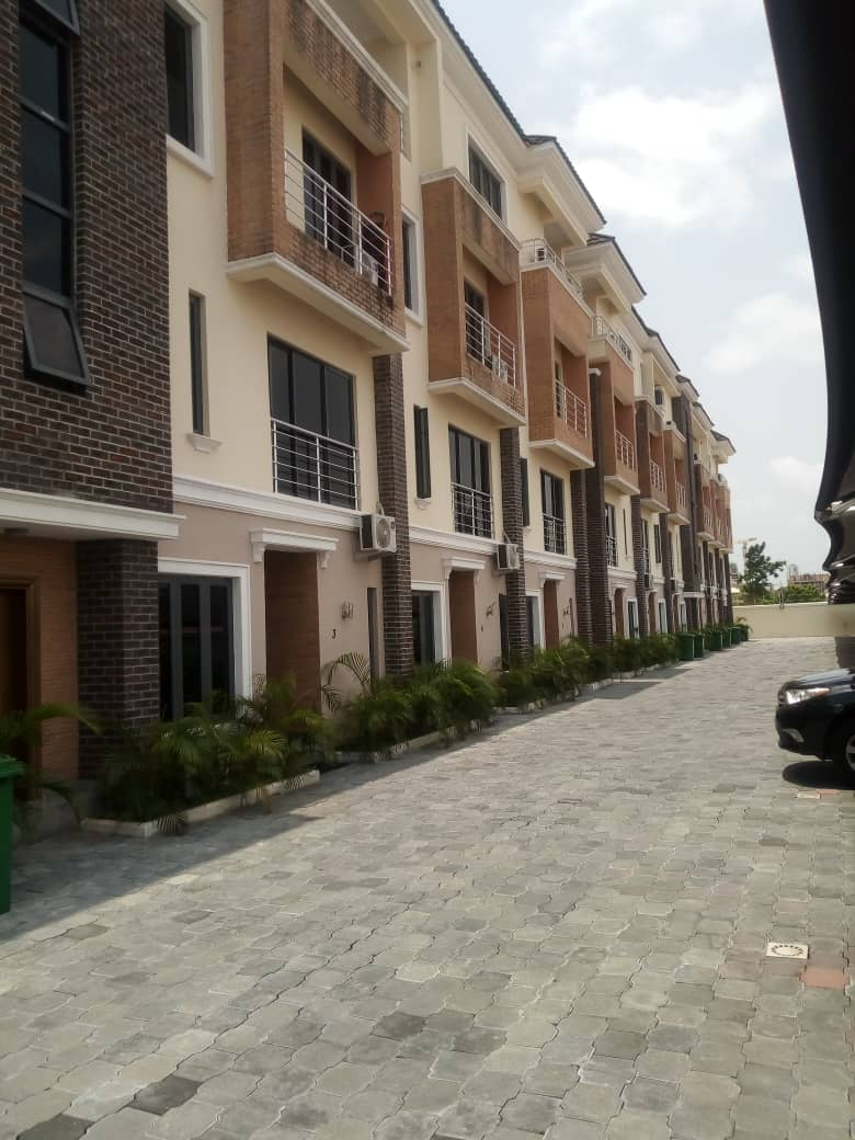 Newly built and serviced 4 bedrooms terrace duplex with BQ.